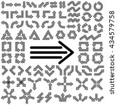 big set of arrows. black arrows.... | Shutterstock .eps vector #434579758