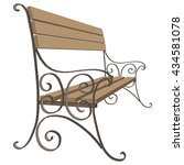 vector classic wooden bench... | Shutterstock .eps vector #434581078