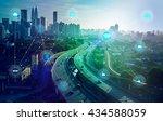 smart city and wireless... | Shutterstock . vector #434588059