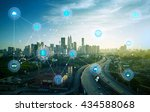 smart city and wireless... | Shutterstock . vector #434588068