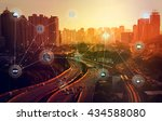 smart city and wireless... | Shutterstock . vector #434588080