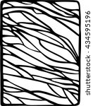 hand drawn stylized waves black ... | Shutterstock .eps vector #434595196