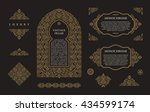 arabic set of frames and lines... | Shutterstock . vector #434599174