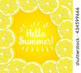 hello summer inscription over... | Shutterstock .eps vector #434599666