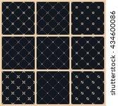 seamless pattern set with art...   Shutterstock . vector #434600086