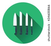 kitchen knife set icon. flat...