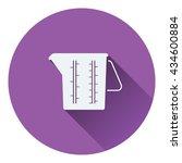 measure glass icon. flat design....