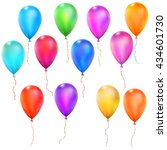 set of color glossy balloons.... | Shutterstock .eps vector #434601730