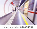 metro train passing by in ... | Shutterstock . vector #434603854