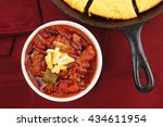 Chili Topped With Cheese Serve...