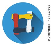 icon of crossed hands. flat...