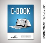 e book cover design | Shutterstock .eps vector #434619604