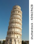 close up of leaning tower of... | Shutterstock . vector #434619628