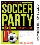 a soccer party flyer invitation ...   Shutterstock . vector #434623210