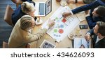 team meeting brainstorming... | Shutterstock . vector #434626093