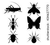 bug icon set   Shutterstock .eps vector #434627770
