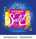 summer sale vector banner. ...   Shutterstock .eps vector #434630614