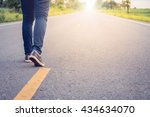 businessman on the road to... | Shutterstock . vector #434634070
