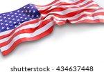 3d illustration of waving... | Shutterstock . vector #434637448