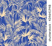 vector seamless graphical artistic topical foliage pattern, tropics, palm leaf, fern frond, cyperus, decorative colorful, summer time, original, fashionable background allover tropical print