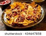 plate full of yellow corn... | Shutterstock . vector #434647858
