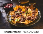 tortilla chips garnished with... | Shutterstock . vector #434647930