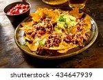 yellow corn nacho chips... | Shutterstock . vector #434647939