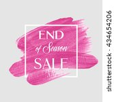 end of season sale sign over... | Shutterstock .eps vector #434654206