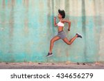 determinate woman running in... | Shutterstock . vector #434656279