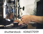 barista coffee maker machine... | Shutterstock . vector #434657059