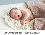 Cute Newborn Baby Girl Sleeps ...