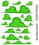 set of green grass  hedges for... | Shutterstock .eps vector #434670463