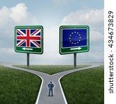 britain european union decision ... | Shutterstock . vector #434673829