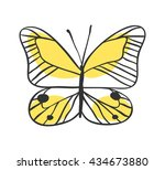 isolated butterfly. hand drawn...   Shutterstock .eps vector #434673880