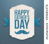 happy fathers day paper banner... | Shutterstock .eps vector #434681476