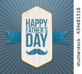 happy fathers day paper poster... | Shutterstock .eps vector #434681518