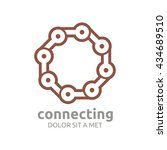 technology connect the dots...   Shutterstock .eps vector #434689510