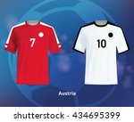 color soccer t shirts of... | Shutterstock .eps vector #434695399