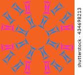 circular pattern of zodiac...   Shutterstock .eps vector #434698213