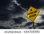 Hurricane Season With Symbol...