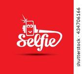 taking selfie photo on smart... | Shutterstock .eps vector #434706166