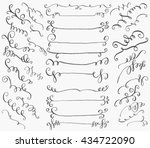 set of hand drawn dividers ... | Shutterstock .eps vector #434722090