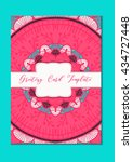 mandala vintage template card... | Shutterstock .eps vector #434727448