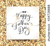 happy fathers day  vector... | Shutterstock .eps vector #434728888
