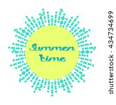 summer time background with text | Shutterstock .eps vector #434734699