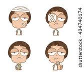 illustration cute boy several... | Shutterstock .eps vector #434740174