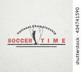 football championship of france.... | Shutterstock .eps vector #434741590