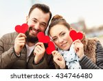 picture of romantic couple... | Shutterstock . vector #434746480