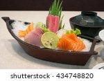 japanese food salmon roe sea... | Shutterstock . vector #434748820