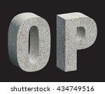 concrete 3d letters. vector...   Shutterstock .eps vector #434749516